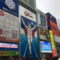 Glico Man - You will often see people posing for pictures in front of this iconic billboard.