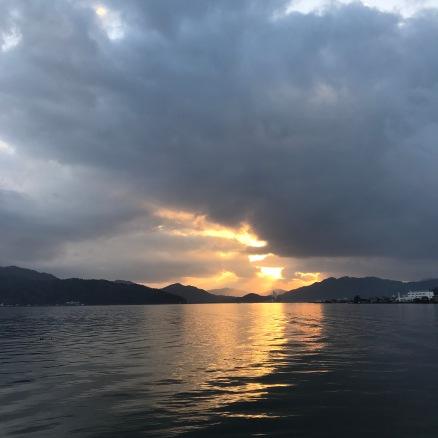 Sunset in Amanohashidate
